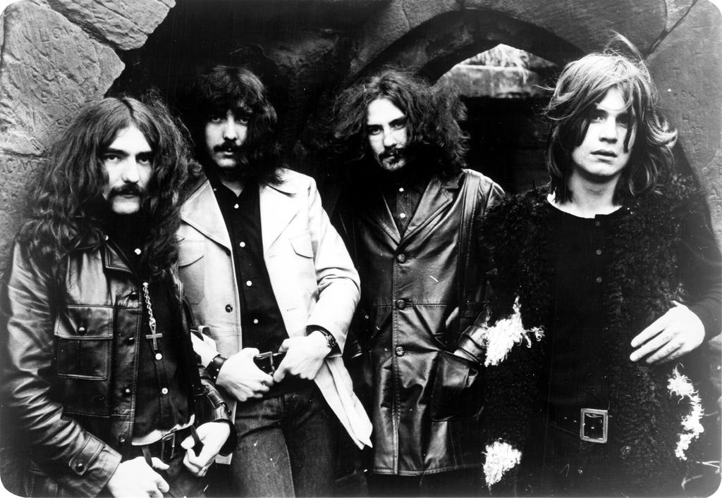 Ozzy Osbourne (far right) and Black Sabbath.