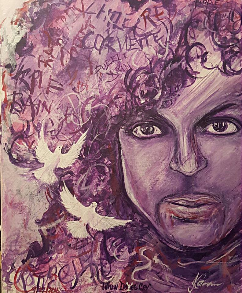"Kettman's ""When Doves Cry"" includes lyrics from some of Prince's songs in the artist's hair."