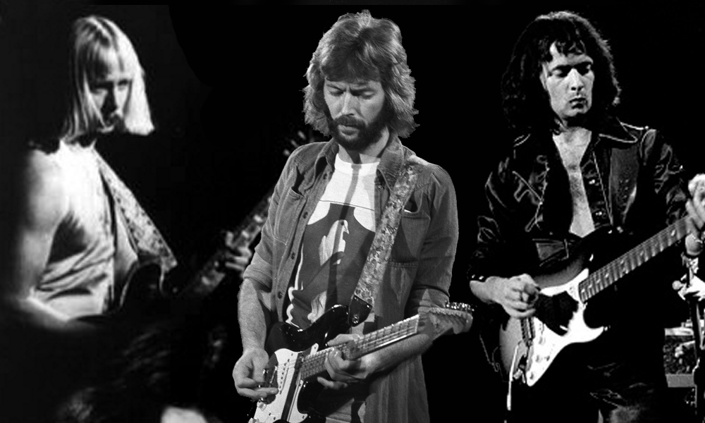 Kerry Livgren, Eric Clapton and Ritchie Blackmore (pictured above left to right) all made the cut on our list of the Top 25 guitar riffs of all time.