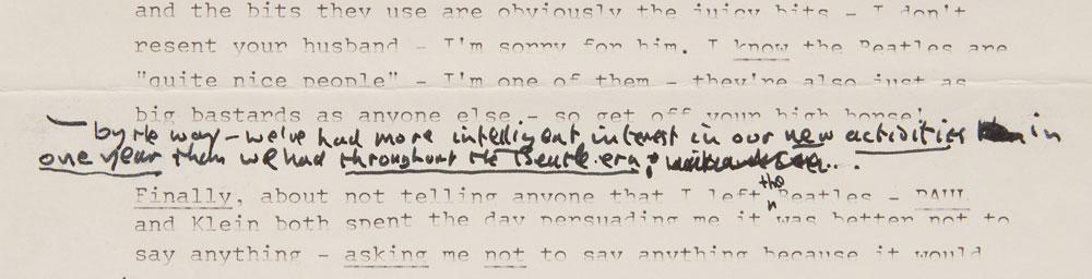 Read John Lennon s Beatles break up letter