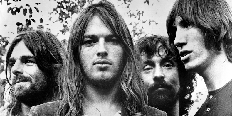 Pink Floyd, (L-R; Rick Wright, Dave Gilmour, Nick Mason and Roger Waters) pose for a publicity still circa 1973. (Photo by Michael Ochs Archives/Getty Images)